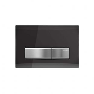 Geberit Sigma50 Smoked Glass (Reflective) Dual Flush Plate - 115.788.SD.5